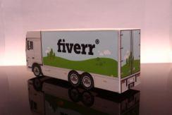 bouwplaat-papercraft-paper model-truck-van-container-fiverr-papertrucklogo
