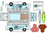 Papercraft_VW_campervan_21stCenturyClassroomVideoTrainingAcademy